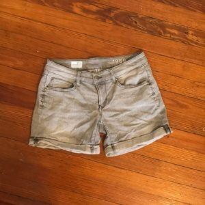 Gray denim shorts